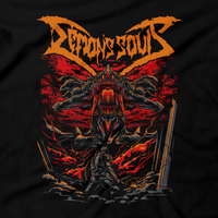 Heavy Metal Tees by Draculabyte l Made from 100% cotton, this unisex t-shirt rocks. Black T-shirt in sizes from small to 6X. Metal from Demon's Souls, Metalheads, Dark Souls 2, Praise The Sun, Bloodborne, Demon Souls, RPG, Action, Bonfire, PS4, Solaire, Japanese, PS5, Rock, Art, PS3, The Slayer of Demons, Gothic, You Are Dead