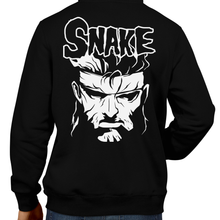 Load image into Gallery viewer, This unisex hoodie rocks. Black Hoodie For Men or Women. Sizes S to 5X - Gamer, Hoody, Winter, metal gear solid, metal gear, solid snake, espionage, hideo kojima, ps1, ps2, misfits, metalhead, shirt, videogame, gamer, konami, playstation, ninja, ocelot, mantis, raiden, Graphic Art