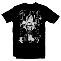 Heavy Metal Tees by Draculabyte l Made from 100% cotton, this unisex t-shirt rocks. Black T-shirt in sizes from small to 6X. Graphic Art, Rock, Movie, Film, Sci-Fi, Yoda, TV Show, Mandalorian, Boba Fett, Darth Vader, Princess Leia, Blaster, This is the way, Season 2, Music, Rebel, David Bowie, Black, Chewbacca, Han Solo, Falcon, Carrie Fisher