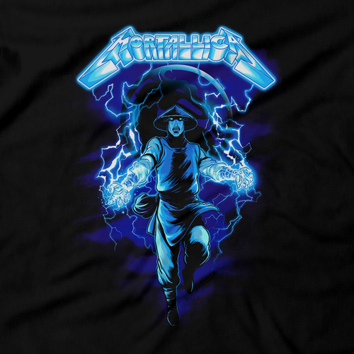 Heavy Metal Tees by Draculabyte l Made from 100% cotton, this unisex t-shirt rocks. Black T-shirt in sizes from small to 6X. Metalheads, Fighting Game, Arcade, Fighter, Sub Zero, Mortal Kombat 11, Fatality, SNES, MK2, Raiden, 1990s, MK, Scorpion, Music, Death Metal, Thunder, Mash Up, Metallica, Death, Album Art, Ride the Lightning, Parody
