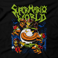 Heavy Metal Tees by Draculabyte l Made from 100% cotton, this unisex t-shirt rocks. Black T-shirt in sizes from small to 6X. Metal, Metalheads, Super Mario Bros, SMB, Bowser, NES, Nintendo Designs, 80s, Dinosaur, Princess Peach, Super Mario 64, King Koopa, Odyssey, Retro Gamer, Game Graphic Art, Mario, Clown Car, Mecha Koopas, Cape Mario