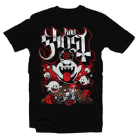 Heavy Metal Tees by Draculabyte l Made from 100% cotton, this unisex t-shirt rocks. Black T-shirt in sizes from small to 6X. Papa Ghost, King Boo, Ghost, Super Mario, SMB, Mario 3, Super Mario 64, Mario Kart, Mario Kart 64, Retro, Video Games, Gamer, Ghost Band, Papa Emeritus, Nintendo Shirt, Switch, N64, Graphic Art.