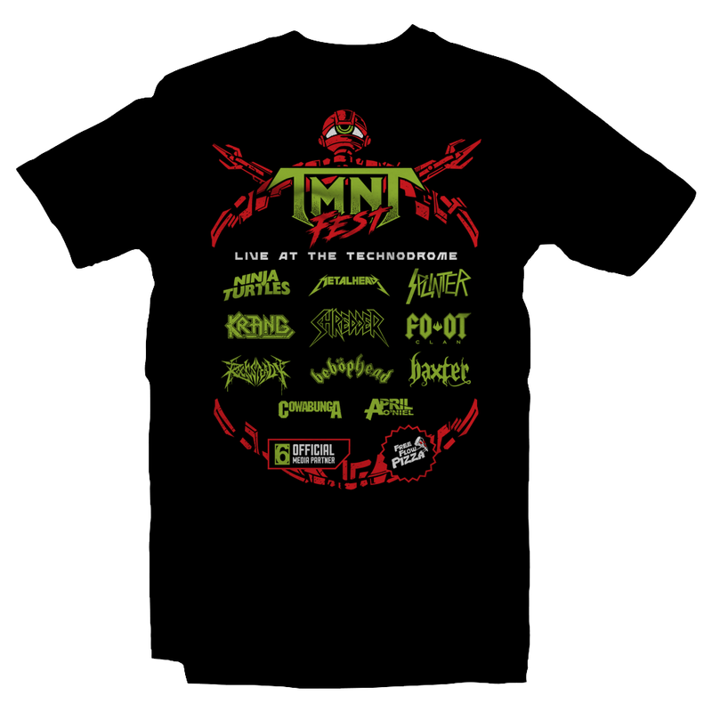 Heavy Metal Tees by Draculabyte l Made from 100% cotton, this unisex t-shirt rocks. Black T-shirt in sizes from small to 6X. Metal, Metalheads, Nintendo, NES, Gamer, Mash Up, TMNT, Michelangelo, Mikey, Leonardo, Donatello, Movie, Brain, Rock and Roll, Metal Head, Comic Books, Cartoons, Shredder, Villain, Krang, Michelangelo, Bebop and Rocksteady, Turtle, Teenage, Mutant Ninja Turtles, Game Graphic Art