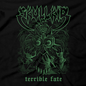 Heavy Metal Tees by Draculabyte l Made from 100% cotton, this unisex t-shirt rocks. Black T-shirt in sizes from small to 6X. Skull Kid, Majora's Mask, Zelda, Nintendo design.