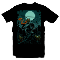 Heavy Metal Tees by Draculabyte l Made from 100% cotton, this unisex t-shirt rocks. Black T-shirt in sizes from small to 6X. Metalheads, Retro Gamer, Graphic Art, Video Games, Breath of the Wild, Ganon, TLOZ, Moon, Hyrule, Ocarina of Time, Majora's Mask, Gamecube, Hyrule, Triforce, Link, The Legend of Zelda, Shadow Beast, Twilight Princess, Midna, Wolf Link