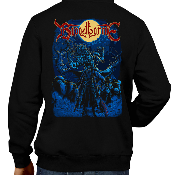 This unisex hoodie rocks. Black Hoodie For Men or Women. Sizes S to 5X - Metal, Metalheads, Dark Souls, Praise The Sun, Bloodborne, PS4, Geek, Japanese, Boss, Solaire of Astora, Lady Maria, Old Hunter, Gothic, Victorian, Yharnam, Graphic Art, father gascoigne, The Hunter, Bloodborn, Jacket, Coat, Warm, Cold, Best, PS5. Playstation