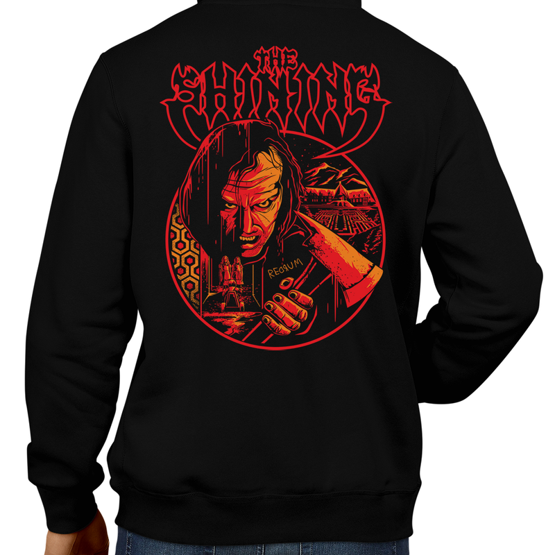 This unisex hoodie rocks. Black Hoodie For Men or Women. Sizes S to 5X - Read my lips , mercy is for wimps. Stanley Kubrick, The Shining, Overlook Hotel, Here's Johnny, Stephen King, Jack Nicholson, Shelley Duvall, Wendy Torrance, Danny Lloyd, Danny, Jack Torrance, Grady Twins, Room 237, Maze, Redrum, Murder, Horror, Art