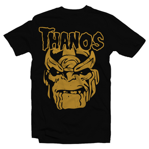 Heavy Metal Tees by Draculabyte l Made from 100% cotton, this unisex t-shirt rocks. Black T-shirt in sizes from small to 6X. Metal heads, Scary, Spooky, Ghost Band, Papa, Mask, X-Men, Superhero, Hero, MVC, Marvel VS Superheroes, Mad Titan, Infinity Gauntlet, Infinity Gems, Thanos, Avengers, Captain America, Thor, Art, Shirt, Tee, Clothing