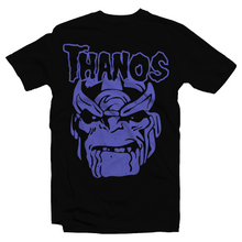Load image into Gallery viewer, Heavy Metal Tees by Draculabyte l Made from 100% cotton, this unisex t-shirt rocks. Black T-shirt in sizes from small to 6X. Metal heads, Scary, Spooky, Ghost Band, Papa, Mask, X-Men, Superhero, Hero, MVC, Marvel VS Superheroes, Mad Titan, Infinity Gauntlet, Infinity Gems, Thanos, Avengers, Captain America, Thor, Art, Shirt, Tee, Clothing