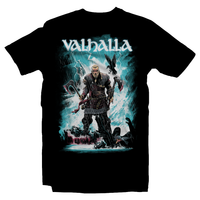 Heavy Metal Tees by Draculabyte l Made from 100% cotton, this unisex t-shirt rocks. Black T-shirt in sizes from small to 6X. Metalheads, Vikings, Norway, England, Clan, RPG, Boat, Sailing, Eivor, Assassin's Creed, Valhalla, Brutal, Axe, Dark Ages, Warrior, Fighter, Hall of the Slain, Valkyries, Anglo-Saxon, Kingdom, amon amarth