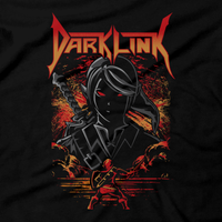Heavy Metal Tees by Draculabyte l Made from 100% cotton, this unisex t-shirt rocks. Black T-shirt in sizes from small to 6X. Dark Link, Ocarina of Time, Zelda, Nintendo design.