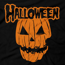 Load image into Gallery viewer, Heavy Metal Tees by Draculabyte l Made from 100% cotton, this unisex t-shirt rocks. Black T-shirt in sizes from small to 6X. Halloween, Pumpkin, Horror, October, October 31st, Scary, Evil, Orange, Carved, Skull, Ghost, Misfits, Shirt, Terror, Jason, Friday the 13th, Rock N Roll, Movie, , Horror, Trick or Treat, Candy,  Haunted House, Costume, Holiday, Art