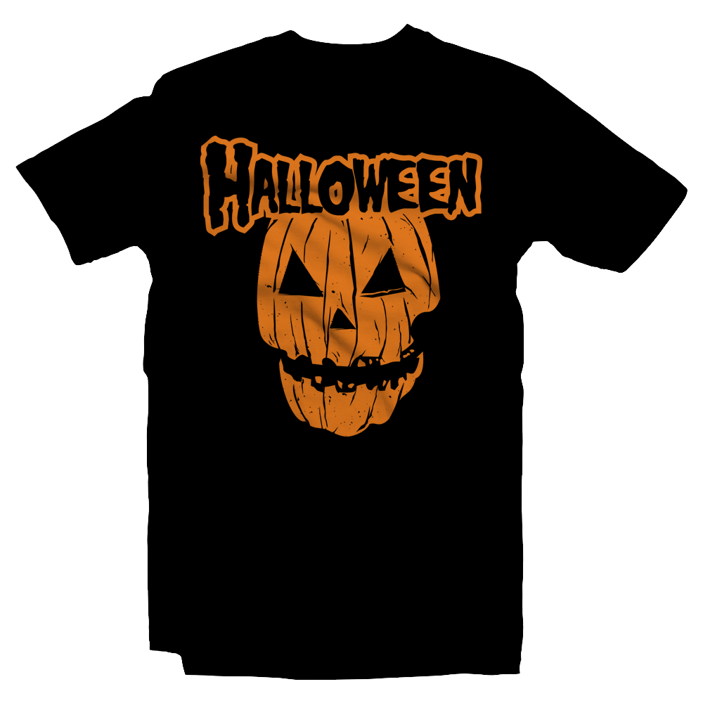 Heavy Metal Tees by Draculabyte l Made from 100% cotton, this unisex t-shirt rocks. Black T-shirt in sizes from small to 6X. Halloween, Pumpkin, Horror, October, October 31st, Scary, Evil, Orange, Carved, Skull, Ghost, Misfits, Shirt, Terror, Jason, Friday the 13th, Rock N Roll, Movie, , Horror, Trick or Treat, Candy,  Haunted House, Costume, Holiday, Art