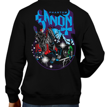 Load image into Gallery viewer, This unisex hoodie rocks. Black Hoodie For Men or Women. Sizes S to 5X - Ocarina of Time, Metalheads, Ganon, Ganondorf, Hyrule, Triforce, Ghost Band, OOT, N64, Video Game, Graphic Art.