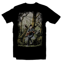 Load image into Gallery viewer, Heavy Metal Tees by Draculabyte l Made from 100% cotton, this unisex t-shirt rocks. Black T-shirt in sizes from small to 6X. Metal, Zombies, Apocalyptic, End of the World, The Last of Us, The Infected, Virus, Corona, Pandemic, The Last of Us Part II, Action, Adventure, Ellie,  Cordyceps fungus, Joel, Naughty Dog, Playstation, Clickers