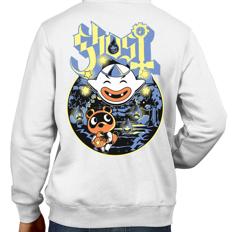 This unisex hoodie rocks. Black Hoodie For Men or Women. Sizes S to 5X - Metalheads, King Boo, Ghost, Haunted, Wisp, Shirt, Animal Crossing, Isabelle, KK Slider, Slayer, Nintendo Switch, Tom Nook, Slipknook, Bell, Funny, Cute, Island, Pay, Fee, Doldo Airlines, Blathers, Raymond, Fest, Clothes, Shop, Store