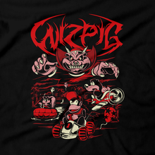 Load image into Gallery viewer, Heavy Metal Tees by Draculabyte l Made from 100% cotton, this unisex t-shirt rocks. Black T-shirt in sizes from small to 6X. Metalheads, Wizard, Bear, Banjo and Kazooie, Banjo Tooie, N64, Nintendo 64, Final Boss, Diddy Kong Racing, Wizpig, Space, Alien, Conker, Rare, Rareware, Pipsy, TT, Taj, Donkey Kong,  Puzzle, Evil, Art, Clothing, Video Game, Retro Gaming