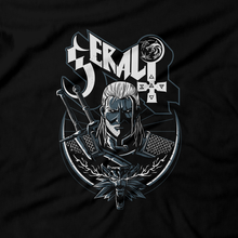 Load image into Gallery viewer, Heavy Metal Tees by Draculabyte l Made from 100% cotton, this unisex t-shirt rocks. Black T-shirt in sizes from small to 6X. RPG, Witch, Wolf, Ghost Band, Classic, Gamer, Video Games, Witcher, Knight, Swordsman, Fighter, Level Up, Geralt, Elder Scrolls, Dragon Age,  Middle Ages, Lord, Manor, Castle, Mountains, Travel