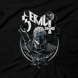 Heavy Metal Tees by Draculabyte l Made from 100% cotton, this unisex t-shirt rocks. Black T-shirt in sizes from small to 6X. RPG, Witch, Wolf, Ghost Band, Classic, Gamer, Video Games, Witcher, Knight, Swordsman, Fighter, Level Up, Geralt, Elder Scrolls, Dragon Age,  Middle Ages, Lord, Manor, Castle, Mountains, Travel