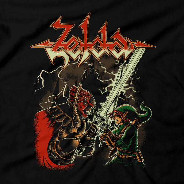 Heavy Metal Tees by Draculabyte l Made from 100% cotton, this unisex t-shirt rocks. Black T-shirt in sizes from small to 6X. The Legend of Zelda, Metalheads, Skull Kid, Retro Gamer, Graphic Art, Video Games, Breath of the Wild, Boss, Ganon, Ganondorf, TLOZ, Hyrule, Ocarina of Time, OOT, Majora's Mask, Nintendo Shirt, Hyrule, Triforce, NES, Space World 2000