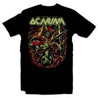 Heavy Metal Tees by Draculabyte l Made from 100% cotton, this unisex t-shirt rocks. Black T-shirt in sizes from small to 6X. Metalheads - Retro Gamer, Graphic Art, Video Games, Breath of the Wild, Final Boss, Ganon, Ganondorf, TLOZ, Ocarina of Time, OOT, Majora's Mask, Nintendo Shirt, Hyrule, Triforce, NES, The Legend of Zelda, Dark, Skull Kid, Beast, Link