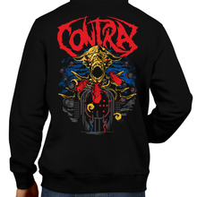 Load image into Gallery viewer, This unisex hoodie rocks. Black Hoodie For Men or Women. Sizes S to 5X - Metal, Nintendo, Metalheads, Contra, SNES, NES, Super C, 8 Bit, 80s, 1980s, Shooter, Alien Wars, 90s, 16 Bit, Run and Jump, Boss, Retro Gamer, Graphic Art. Konami Code, Spreader, BIll and Lance, 3