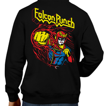 Load image into Gallery viewer, This unisex hoodie rocks. Black Hoodie For Men or Women. Sizes S to 5X - Nintendo, Metalheads, Ganon, Metroid, Samus Aran, Smash Bros Ultimate, Judas Priest, Breakin the Law, Captain Falcon, Falcon Punch, F-Zero, GX, X, SNES, Gamecube, Graphic Art, Switch, Mute City, Big Blue, Black Shadow, Blood, Racing