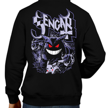Load image into Gallery viewer, This unisex hoodie rocks. Black Hoodie For Men or Women. Sizes S to 5X - Pokemon, Nintendo, Gengar, Poison, Ghost Type, Pikachua, Shadow, Blue, Red, Moon, Retro, Video Games, Gamer, Card, Sun, Game Boy Ghost Band, Papa Emeritus, Nintendo Shirt, Switch, Sword and Shield, Graphic Art.