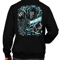 This unisex hoodie rocks. Black Hoodie For Men or Women. Sizes S to 5X - Read my lips , mercy is for wimps. Hoody, Jacket, Coat. Winter. Hoody, Jacket, Coat. Winter. Hoody, Jacket, Coat. Winter. Horror, Movie, Film, Monster, Godzilla, Gojira, King Kong, Godzilla VS Kong, Skull Island, Mothra, Rodan, Gigan, Mechagodzilla, Japan, Japanese, Gorilla, Creature, Art, Tee, Store, Clothes