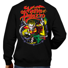 Load image into Gallery viewer, This unisex hoodie rocks. Black Hoodie For Men or Women. Sizes S to 5X - Read my lips , mercy is for wimps. Final Fantasy, FF VI, JRPG, Japan, Kefka Palazzo, Videogames, SNES, Super Nintendo, FF 6, Playstation, Insane, Clown, Dissidia, Final Boss, Shirt, Cosplay, Gamer, PS1, Shop Graphic Art, King Diamond