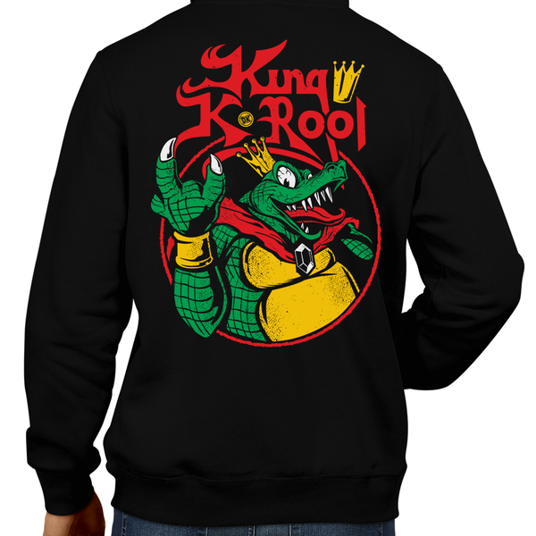 This unisex hoodie rocks. Black Hoodie For Men or Women. Sizes S to 5X - Metalheads, Graphic Art, Boss, Rock and Roll, King K. Rool, Crocodile, Donkey Kong Country, Donkey Kong 64, Diddy Kong, SNES, Super Nintendo, Rare, Rareware, Nintendo, N64, Game Boy, King Diamon, Mash Up, Parody, Super Smash Bros