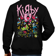 Load image into Gallery viewer, This unisex hoodie rocks. Black Hoodie For Men or Women. Sizes S to 5X - The Suck Weapon. Super Mario, SMB, Super Mario 64, Mario Kart 64, Retro, Video Games, Gamer, MK8, SNES, Nintendo Shirt, Switch, N64, Graphic Art, Kirby, Yoshi, Luigi, Weapon, Bomb, Suck, Dreamland, Super Smash Bros, N64, Korn, Music