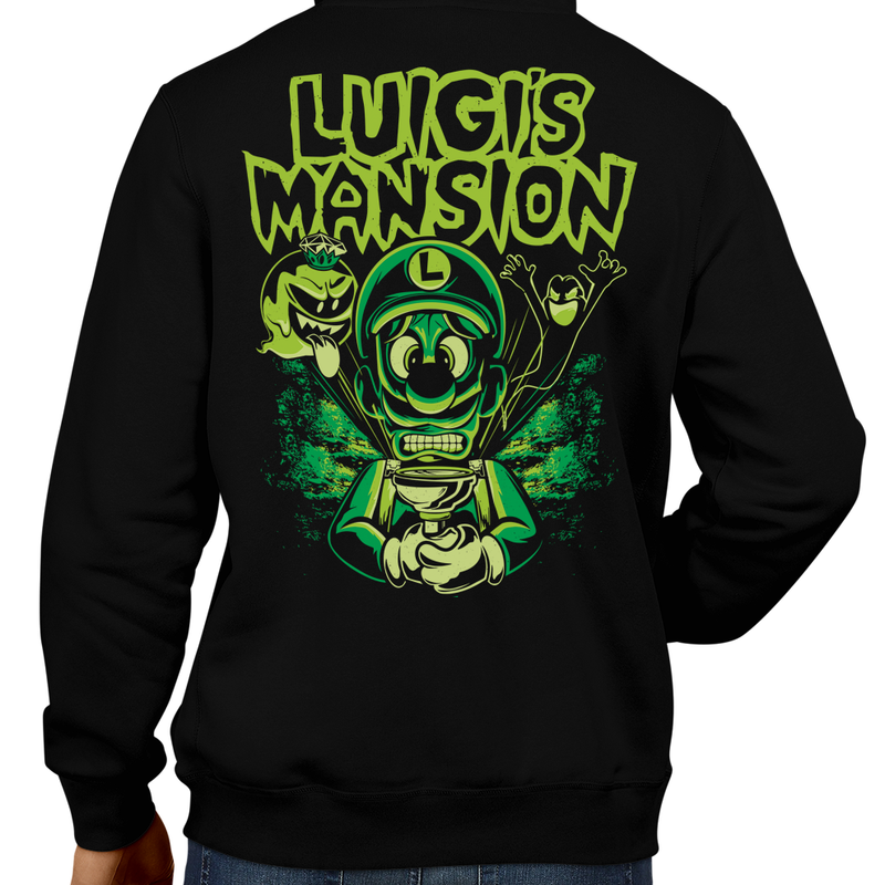 This unisex hoodie rocks. Black Hoodie For Men or Women. Sizes S to 5X - Boss, Rock and Roll, Princess, Nintendo Switch, Marilyn Manson, Luigi's Mansion, 2, 3, Gamecube, King Boo, Ghost, Gooigi, Super Mario, SMB, 3DS, Haunted House, Hotel, Sweet Dreams, Dark Moon, Polterpup, Men, Women, Gamer, Cold, Winter Clothes, Video games
