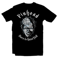 Heavy Metal Tees by Draculabyte l Made from 100% cotton, this unisex t-shirt rocks. Black T-shirt in sizes from small to 6X. Horror, Movie, Film, Scary, Halloween, Evil, Bloody, Killer, Murder, Terror, Pinhead, hellraiser, Clive Barker, Skull, Cenobite, Nail, Puzzle Box, Comic Book, Jason, Freddy Krueger, Misfits Shirt, Clothes