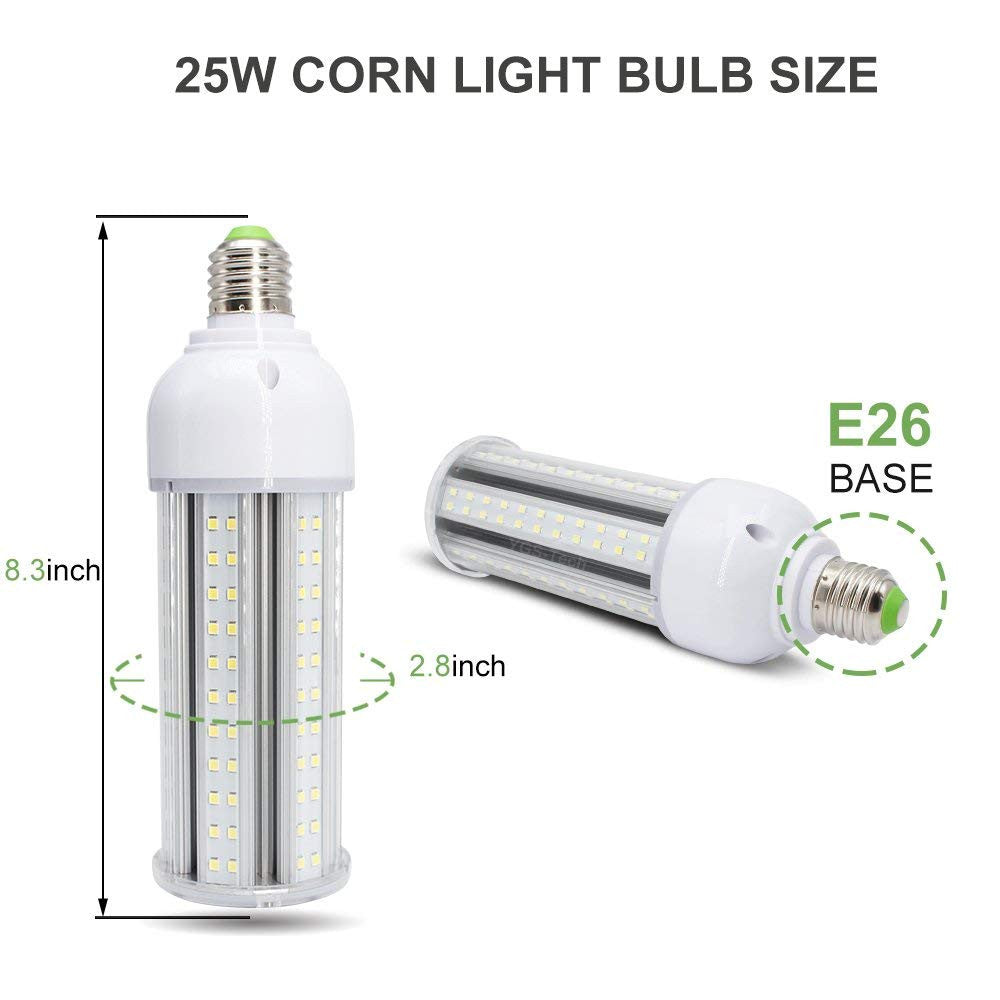 LightingWill LED Corn Light Bulb, E26 Medium Screw Base, Metal Halide Replacement for Indoor Outdoor Large Area Lighting, Street and Area Light, HID, Hp