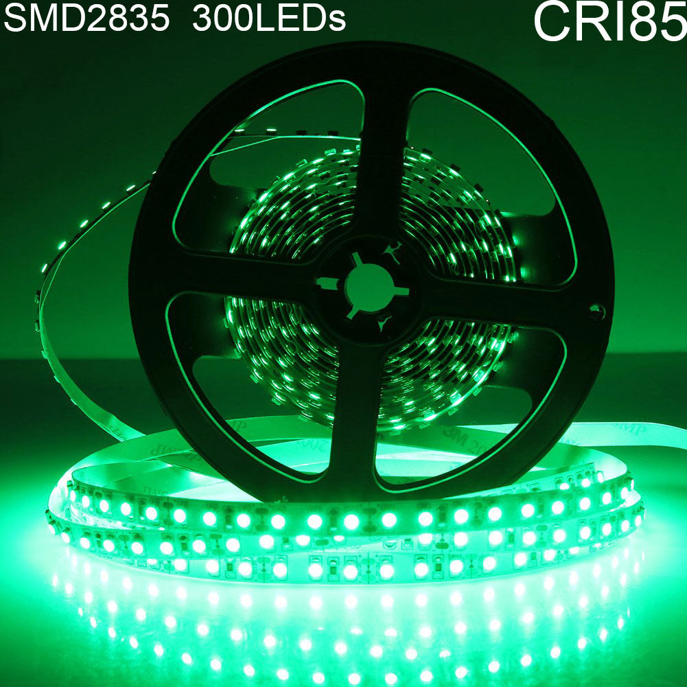 Red/Blue/Yellow/Green DC 12V Dimmable SMD2835-300 Flexible LED Strips 60 LEDs Per Meter 8mm Width LED Tape Light