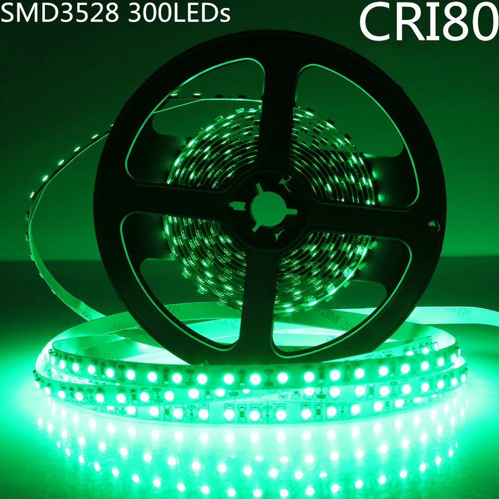 DC 12V Red/Blue/Green/Yellow Dimmable SMD3528-300 Flexible LED Strips 60 LEDs Per Meter 8mm Width 300lm Per Meter
