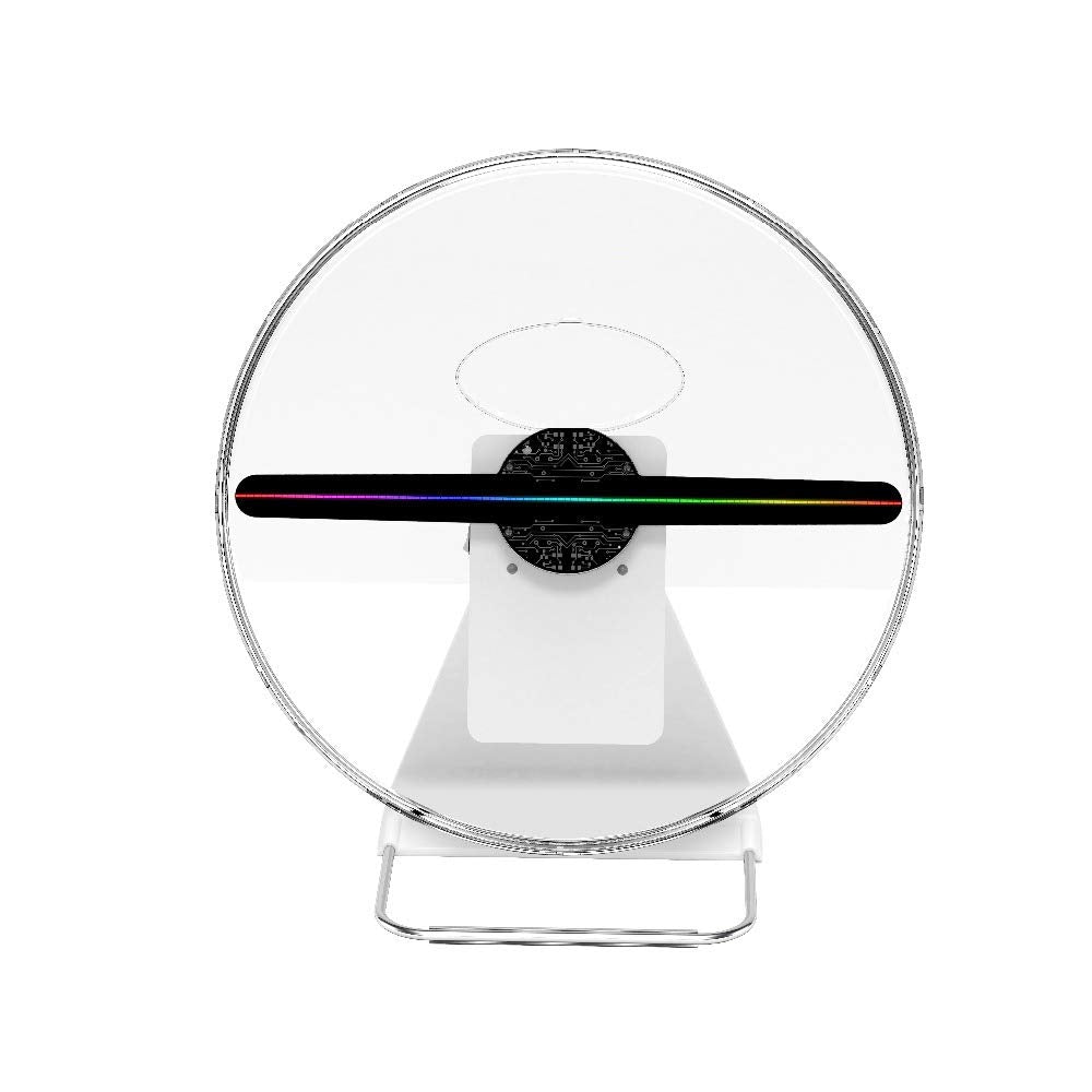 30cm 3D Hologram Fan Unique Design with Patent, Battery Powered Holograma Advertising Logo Projector LED Fan Display