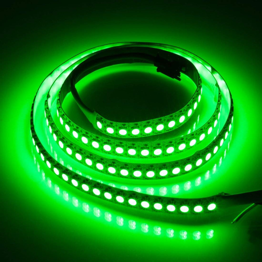 DC 5V SK6812 Individually Addressable LED Strip Light 5050 RGBW 6.6 Feet (200cm) 144LED/Meter LED Pixel Flexible Tape White PCB