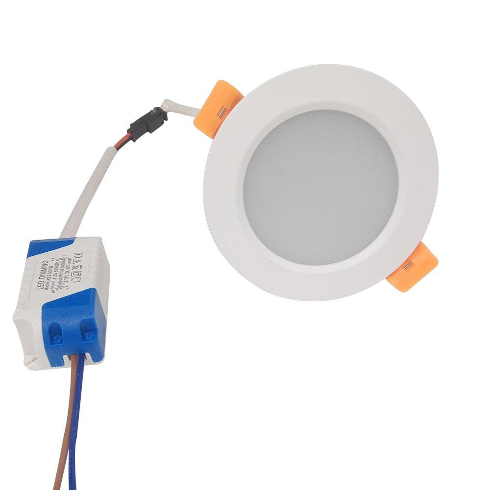 LED Downlight 3W/5W/7W/9W/12W/15W/18W/24W CRI80 COB Fixed Head Flat Diffuser Ceiling Light-DXL Series