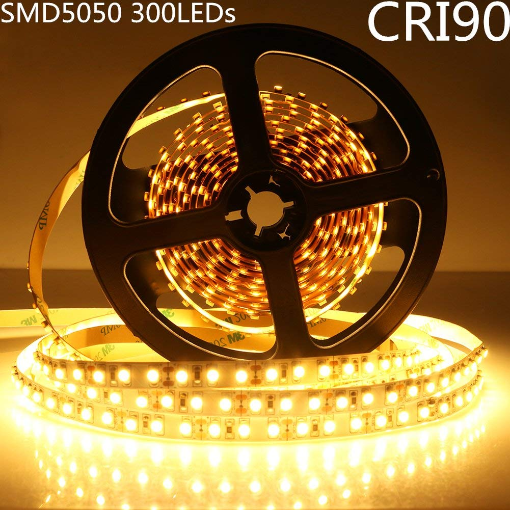 LED Strip Light CRI90 SMD5050 300LEDs DC 12V 5Meters per Roll
