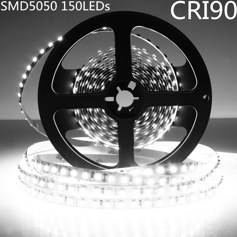 LED Strip Light CRI90 SMD5050 150LEDs DC 12V 5Meters per Roll