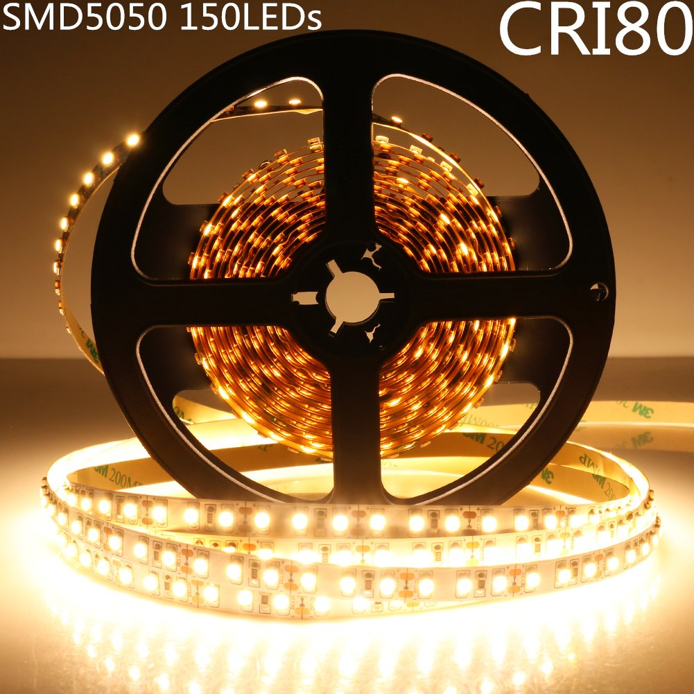 DC 12V Dimmable SMD5050-150 Flexible LED Strips 30 LEDs Per Meter 10mm Width 450lm Per Meter