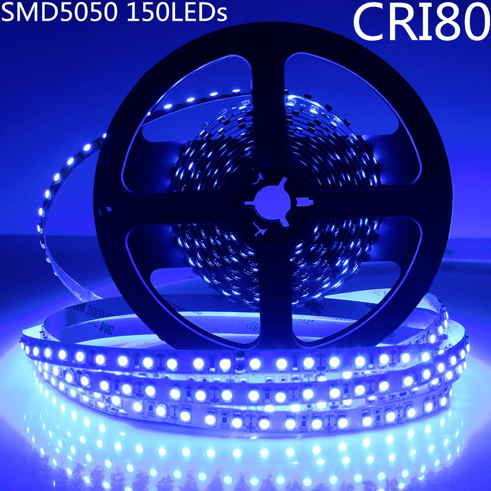 DC 12V Red/Blue/Green/Yellow Dimmable SMD5050-150 Flexible LED Strips 30 LEDs Per Meter 10mm Width 450lm Per Meter