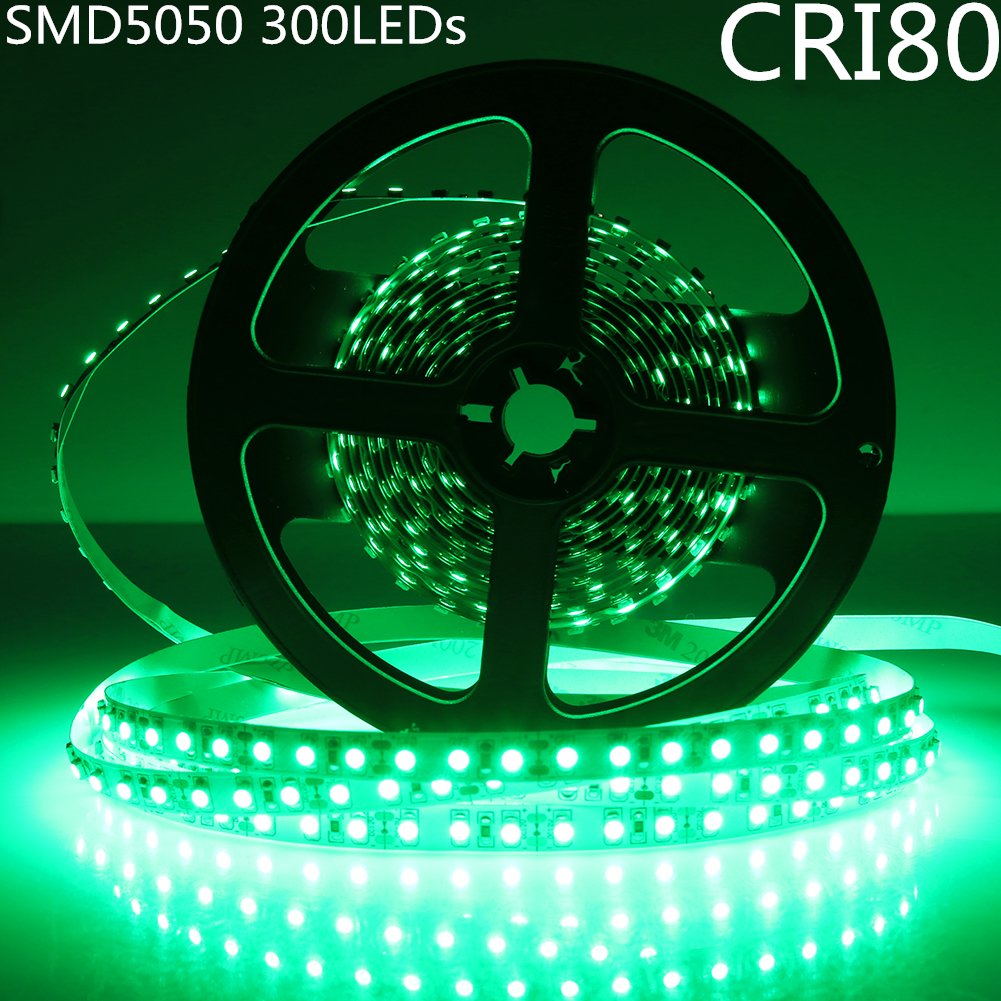 DC 12V Red/Blue/Green/Yellow Dimmable SMD5050-300 Flexible LED Strips 60 LEDs Per Meter 10mm Width 900lm Per Meter