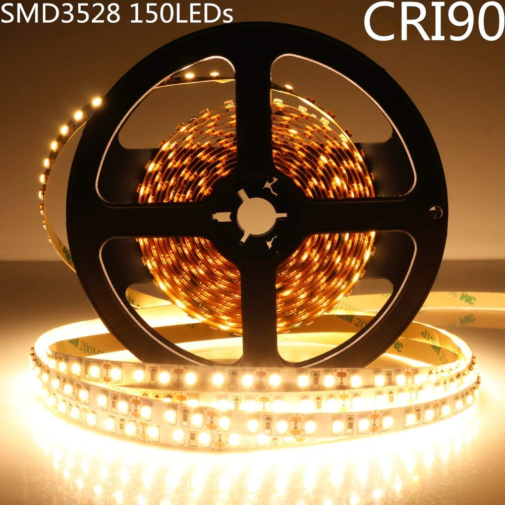 LED Strip Light CRI90 SMD3528 150LEDs DC 12V 5Meters per Roll
