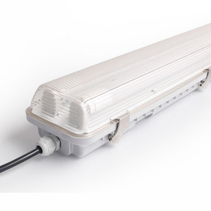 LED Tube Fixture (No Tube included) for Dual LED Tube  Tri-proof LED Tube Support Bracket Waterproof , Dustproof, Corrosion-Proof