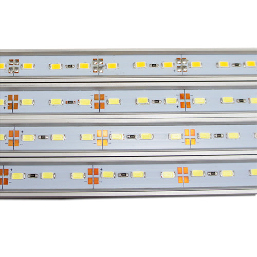 5-Pack 1.64ft/50cm DC 12V 6.5Watt 500LM-600LM 5630SMD Aluminum Shell Rigid Hard LED Strip Light 36LEDs Non-Waterproof or Waterproof LED Rigid Light Bar
