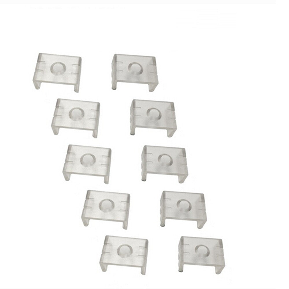 10pcs Clear Plastic U or V Mounting Clips for LightingWill U-Shape LED Strip Aluminum Channel (Fit Model U01, U02, U03, U04, U05, U06) or V-Shape LED Strip Aluminum Channel(Fit model V01, V02,V03)