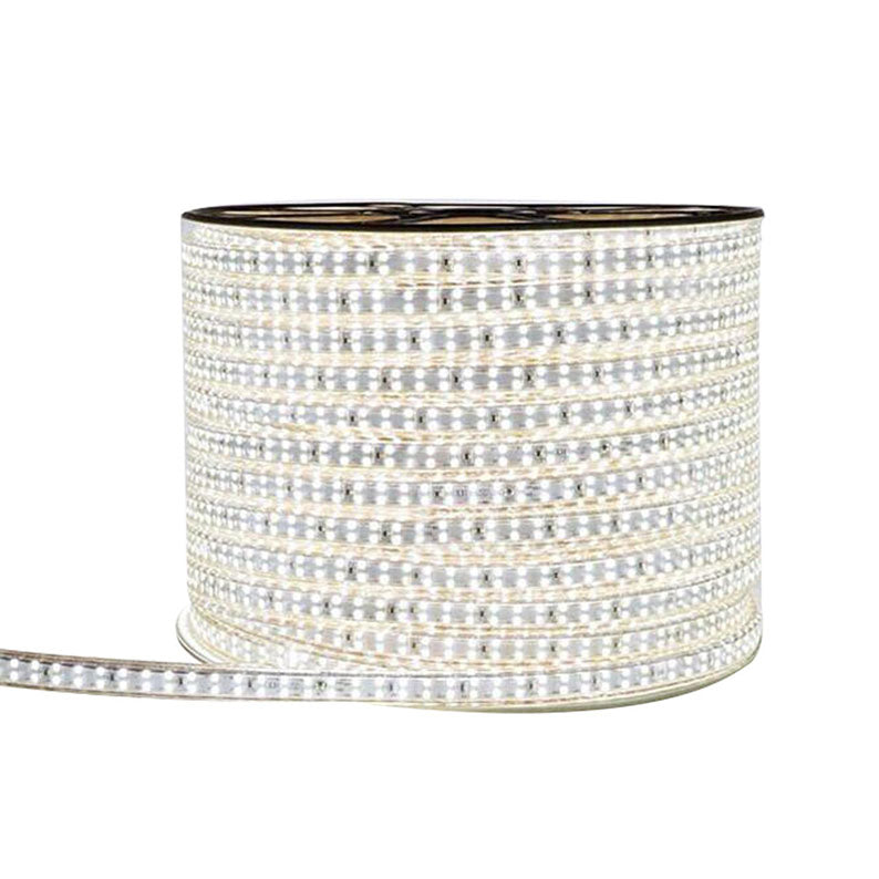 110V-120V AC or 200V - 240V AC Pure White / Warm White LED Strip, SMD2835, 180LED/Meter, Double Row LED Outdoor Waterproof LED Flexible Strip Plug and Play Kit with Power Plug Cord Included